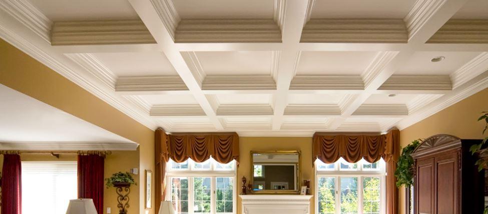 Ceiling, ceiling design, interior, interior tip, home interior, interior ceiling, home ceiling, home ceiling interior, Coffered ceiling