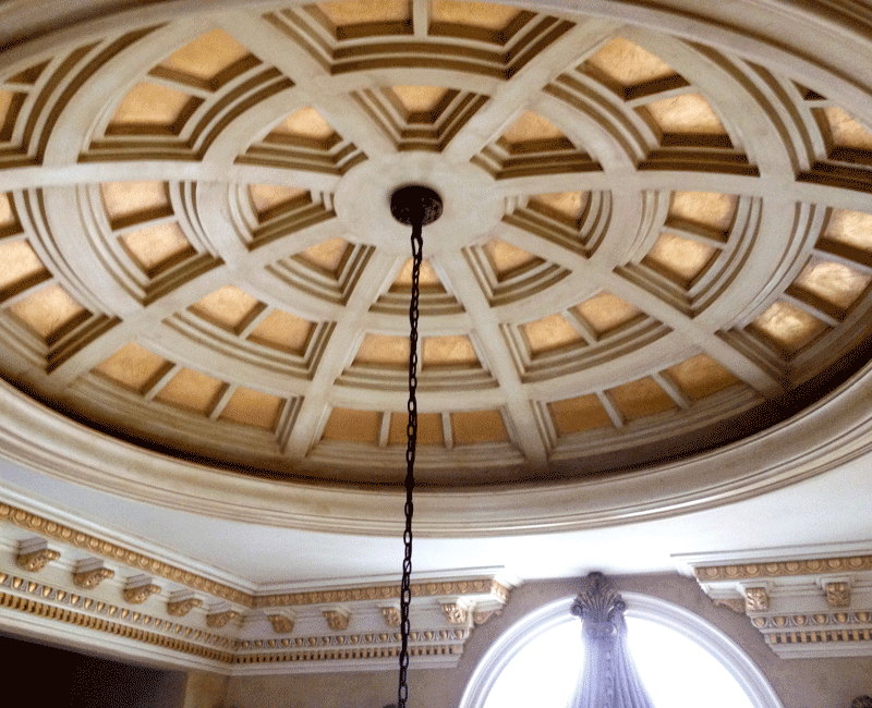 Fiberglass ceiling dome,ceiling dome,interior ceiling dome, coffered dome